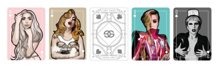 Lady Gaga playing card Queen set by Jaguero92