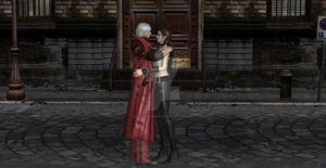 Dante returns from hospital 2 by WhiteKnightDante