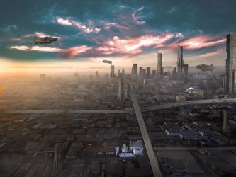 City of the future by EdhoART2
