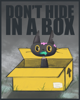 Don't Hide In A Box When There Are Zombies! by blodbear