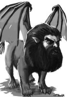 Manticore for Swords and Wizardry by zelldweller