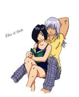 Riku and Xion colored by Aira09