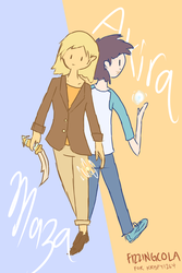 Maza and Akira [Request] by FizzingCola