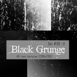 Icon Textures - Set 008 - Black Grunge (200x200) by justalittlefaith