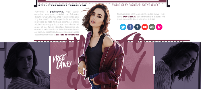 Lily Collins Header Fansite for yeahsource by oursheartsps