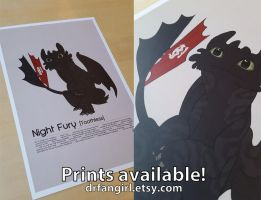 Toothless, Night Fury Field Sheet Poster by Nukaleu