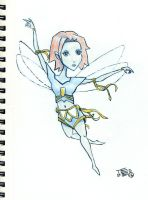 Faery sketch by tedbergeron