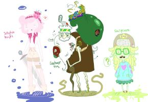 JellyFish Knight, Garbage King, and Snail Princess by Ask-ManyMask