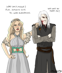Bloodraven and Shiera Seastar by chillyravenart