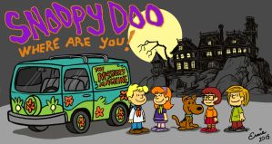 Snoopy as Scooby Doo by Ernimator