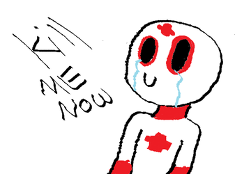 Suicine, but everytime I draw him he cries by LovexyHub