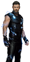Infinity War Thor (1) - (UPDATED) - PNG by Captain-Kingsman16