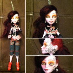 Monster High Custom: Crooked Unicorn by TerribleToadQueen