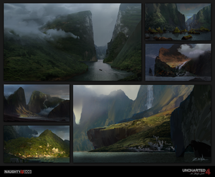Uncharted 4 - Pirate Cove Sketches by EytanZana