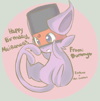 Contest entry: Espeon Tophat by TheQuietDummy