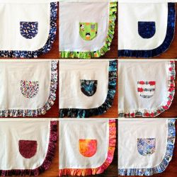 Aprons of Many Colors by pinkythepink