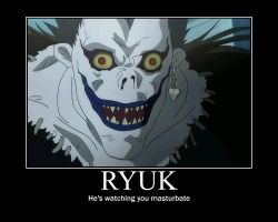 Ryuk is watchin you masturbate by Deathsabre