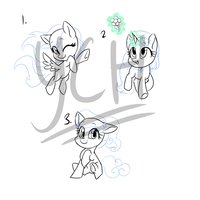 chibi ponies YCH batch ($5 per spot) (closed) by SapphireScarletta