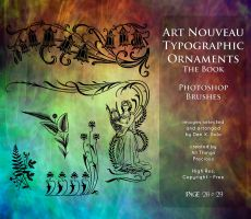 Page 28 and 29 Art Nouveau Typographic Ornaments by AllThingsPrecious
