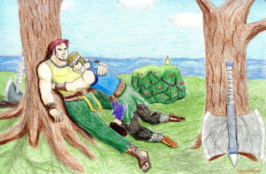 Dorcas And Bartre Relaxing by GamingArtSeer