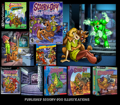 published Scooby doo art by youlittlepunk