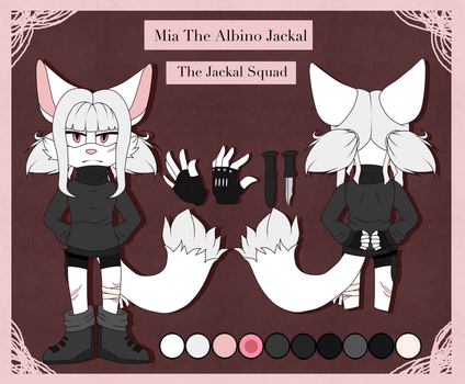Mia The Albino Jackal    Sonic FC Ref by Hornets-N-Tribes