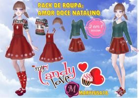 Pack amor dulce ropa navidena by Marylusa18
