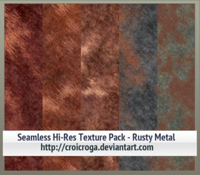 Seamless Hi-Res Texture Pack - Rusty Metal by croicroga