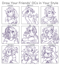 Draw Your Friends' OCs Thang by HumbleTechnologist