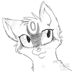 EchoStorm - Headshot Sketch Commission by JB-Pawstep
