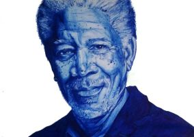 Dibujo Boligrafo Morgan Freeman by Wilsonghm99