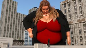 BBW giantess in the city 03 by Galiagan