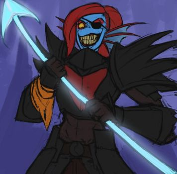 Undyne the Undying by SurealKatie