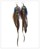 Kahlua - Long Feather Earrings by doodle-moose