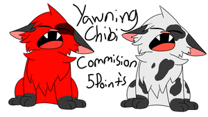 Yawning chibi Commisions by skyfeather0066