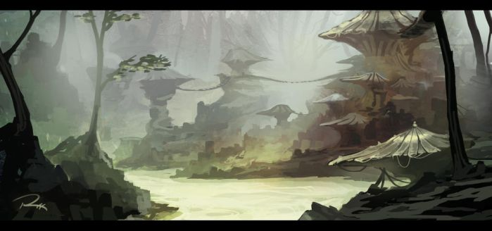 Paint 9/22/13 - Swamp Concept W/ VIDEO!!! by JRettberg