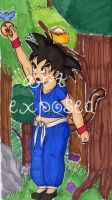 Chibi Goku -colored by soulexposed