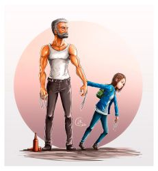 Logan and X23-  fanart by juank91