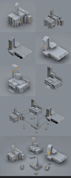 Low Poly - Space Base by Vash00