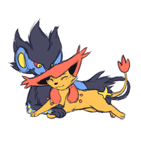 Sketch com: Luxray Delcatty