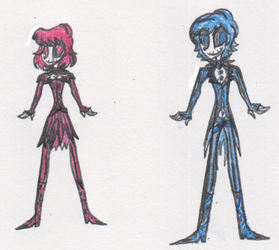 Skellington sona concept outfits by Zikka