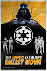 Galactic Empire Recruitment Poster - ROGUE ONE by MrSteiners