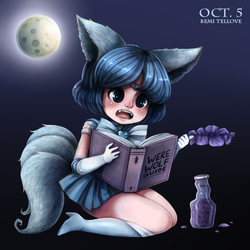 Drawlloween 1: Werewolf Mercury by BemiTellove