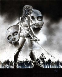 Michonne-WD by thepunisherone