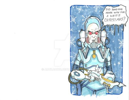 2017 Holiday Cards - Mr Freeze by artildawn