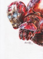 IronMan by roxaoleen - pencils on paper by Roxaoleen