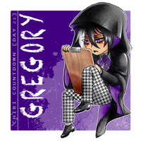 [Chibi Countdown - Day 21] Gregory by RiikoChick