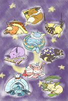 Naptime Eeveelution by Pawlove-Arts