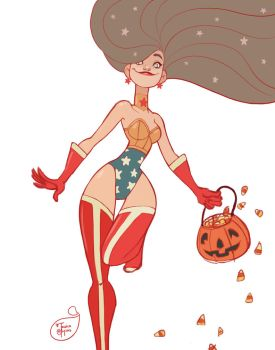 Halloween Character Design - Wonder Woman by MeoMai
