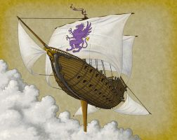 Flying Ship by quellion